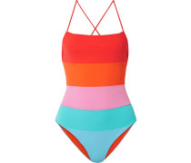 Olympia Badeanzug in Colour-block-optik