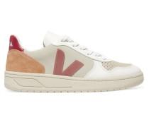 + Net Sustain V-10 Sneakers aus Mesh, Veloursleder und Leder