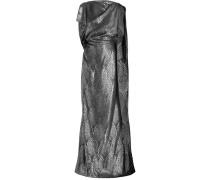 Robe aus Metallic-jacquard