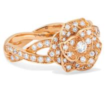 Rose Ring aus 18 Karat  mit Diamanten
