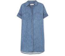 Courier Hemdblusenkleid aus Chambray aus einer Baumwoll-leinenmischung