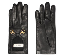 Handschuhe aus Leder mit Horsebit-detail