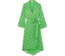 Wickelkleid aus Georgette mit Polka-dots