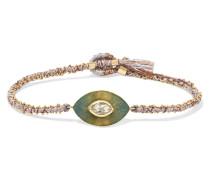 Talisman Armband aus 18 Karat  und Seide