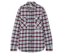 Oversized-hemd aus Kariertem Flanell aus einer Baumwollmischung