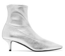 Notte Sock Boots aus Metallic-leder