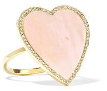Heart Ring aus 18 Karat  mit Opal und Diamanten