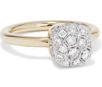 Nudo Ring aus 18 Karat Rosé- und Weißgold