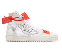 High-top-sneakers aus Strukturiertem Leder und Veloursleder