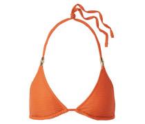 Strukturiertes Triangel-bikini-oberteil