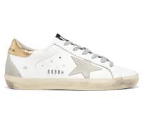 Superstar Sneakers aus Leder und Veloursleder in Distressed-optik