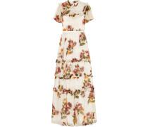 Venetian Floral Bedruckte Robe aus Krepon