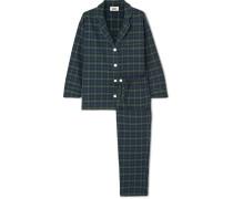 Marina Pyjama aus Kariertem Baumwollflanell