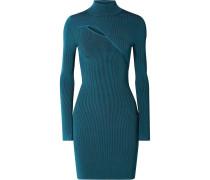 Minikleid aus Geripptem Stretch-strick
