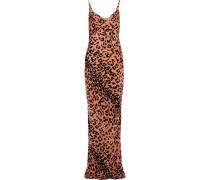 Slipdress aus Samt mit Leopardenprint