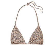 The String Bedrucktes Triangel-bikini-oberteil