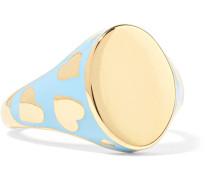 Amour Ring aus 14 Karat  mit Emaille