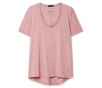 Boyfriend T-shirt aus Flammgarn-jersey aus Baumwolle