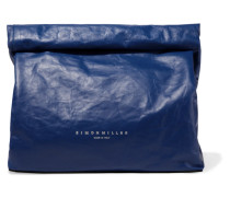 Lunchbag 30 Clutch aus Leder in Knitteroptik