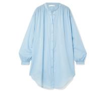 Brea Hemd aus Baumwoll-voile mit Raffung