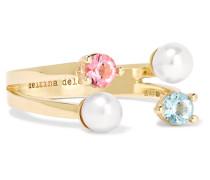 Ring aus 9 Karat  mit Topas und Perle