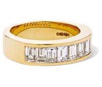 Channel Ring aus 18 Karat  mit Diamanten