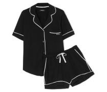 Signature Pyjama aus Jersey aus einer Baumwollmischung