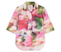 Hemd aus Baumwollpopeline mit Blumenprint