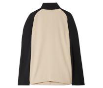Zweifarbige Bluse aus Crêpe