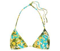 Triangel-bikini-oberteil mit Blumendruck