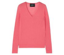 Pullover aus einer Gerippten Wollmischung