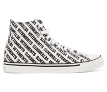 High-top-sneakers aus Canvas mit Logoprint