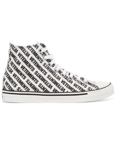 VETEMENTS Damen High-top-sneakers aus Canvas mit Logoprint Preiswerte Reale Finish Versand Rabatt Verkauf ICPtSbZTsG
