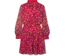 Isabel B Minikleid aus Bedrucktem Seiden-georgette