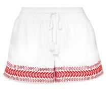 Bestickte Shorts aus Baumwoll-voile