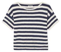 Gestreiftes T-shirt aus einer Baumwollmischung