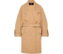 Doppelreihiger Mantel aus einer Woll-kaschmirmischung