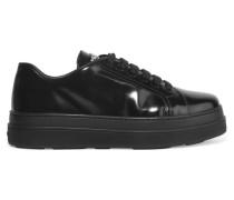 Plateau-sneakers aus Glanzleder