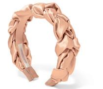 Lorelei Geflochtenes Haarband aus Gehämmertem Seidensatin