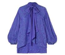 Bluse aus Plissiertem Jacquard