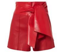 Shorts aus Leder mit Schleife