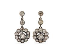 Antike Ohrringe aus  und Silber mit Diamanten