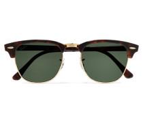 Clubmaster Sonnenbrille aus Azetat in Hornoptik