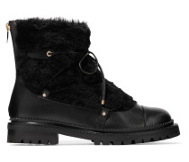 Darcie Ankle Boots aus Shearling und Leder