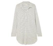 The Boyfriend Gestreiftes Pyjama-oberteil aus Stretch-modal