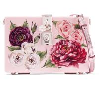 Dolce Box Schultertasche aus Acryl Mir Blumendruck