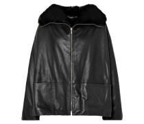 Annecy Wendbare Jacke aus Leder und Faux Fur