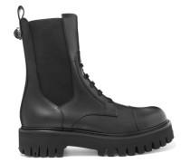 Stiefel im Military-stil aus Leder