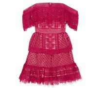 Schulterfreies Minikleid aus Guipure-spitze