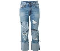 Bowie Verkürzte, Halbhohe Jeans